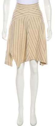 Isabel Marant Linen & Wool Knee-Length Skirt
