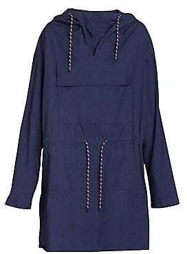 Dries Van Noten Women's Hooded Drawstring Parka Midi Dress