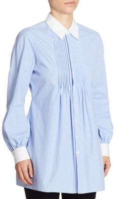 Junya Watanabe Striped Button Front Tunic $635 thestylecure.com