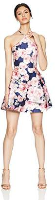 Speechless Printed Mikado Short Party Dress (Junior's)