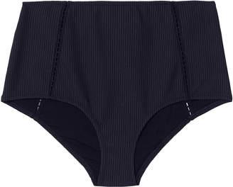 Jonathan Simkhai Swim Seersucker Bikini Bottom