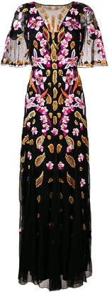 Temperley London floral embroidered fitted long dress
