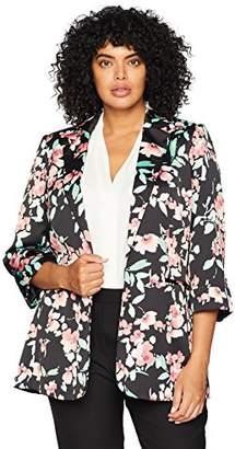 Calvin Klein Women's Plus Size Open Floral Jacket