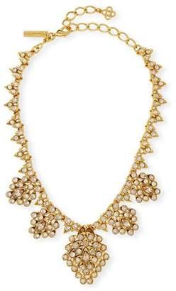 Oscar de la Renta Teardrop Framed Crystal Statement Necklace
