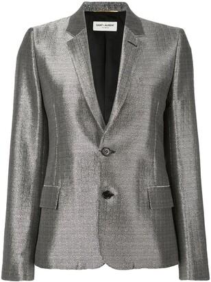 Saint Laurent metallic sheen blazer