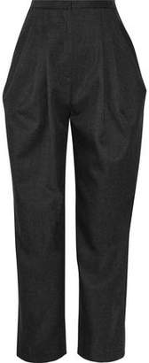 Vika Gazinskaya Pleated Wool-Twill Tapered Pants