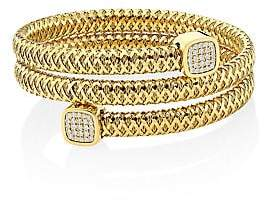Roberto Coin Women's Tiny Treasures Prima 18K Gold & Diamond Coiled Cuff Bracelet