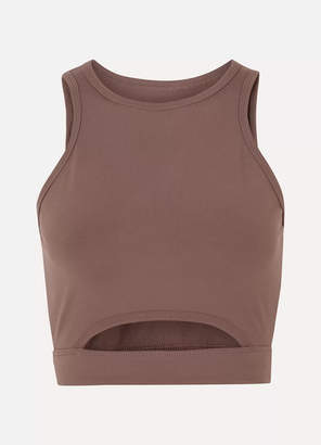 Year of Ours Cutout Stretch Sports Bra - Taupe