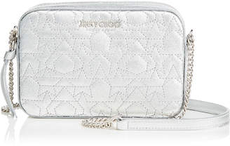 Jimmy Choo QUINN Silver Graphic Star Quilted Metallic Nappa Leather Mini Bag
