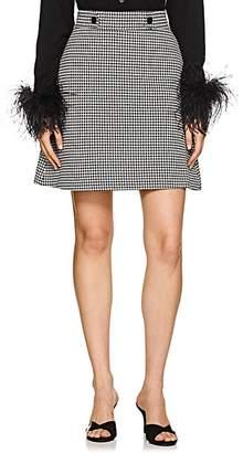 Barneys New York Women's Houndstooth A-Line Skirt - Black
