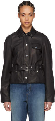 J.W.Anderson Black Belted Leather Jacket