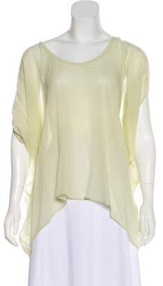Helmut Lang Semi-Sheer Silk Blouse