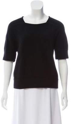 Stella McCartney Wool-Cashmere Short Sleeve Sweater