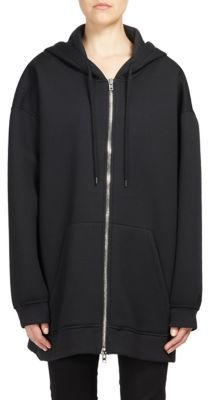 Givenchy Logo-Detail Neoprene Zip-Front Hoodie $1,430 thestylecure.com