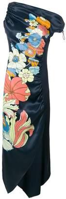 Peter Pilotto one-shoulder floral dress