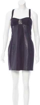 Joseph Wool & Leather-Trimmed Dress w/ Tags