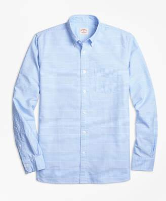 Brooks Brothers Glen Plaid Oxford Cotton Sport Shirt