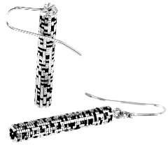 John Brevard Metatron Cylinder Silver Dangle Earrings
