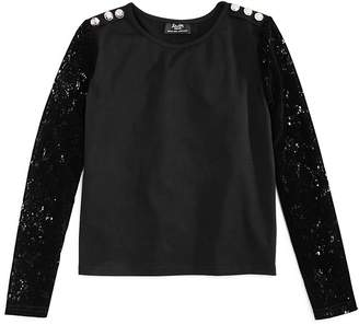 Bardot Junior Girls' Top with Lace Sleeves