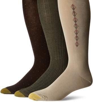 Gold Toe Men's Over The Calf Dress Socks, 3 Pairs