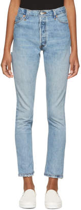 RE/DONE Indigo Levis Edition High-Rise Butt Rip Jeans