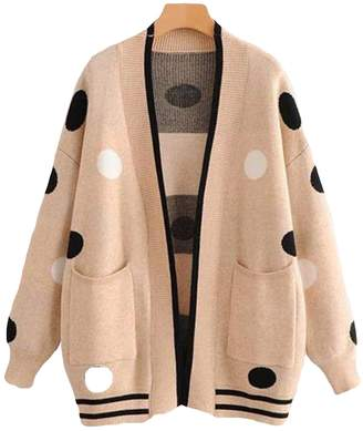 Goodnight Macaroon 'Camryn' Spotted Knitted Open Cardigan (2 Colors)