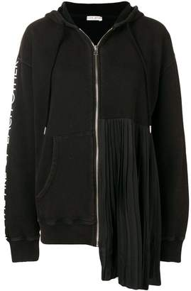 Each X Other Pleated Zip-Front Hoodie
