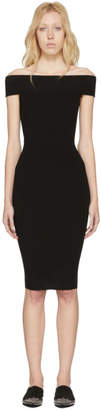 McQ Black Bandeau Off-the-Shoulder Dress