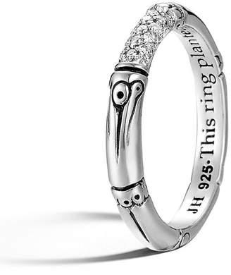 John Hardy 'Bamboo' Pave Diamond Ring