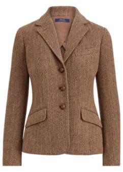 Ralph Lauren Herringbone Wool Blazer Brown/Camel Herringbone 2