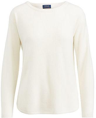 Polo Ralph Lauren Cashmere Crewneck Sweater $298 thestylecure.com