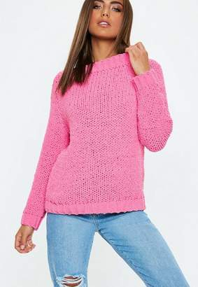 Missguided Pink Chunky Sweater