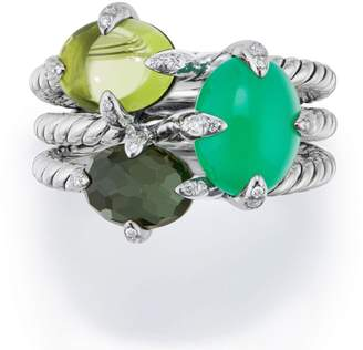 David Yurman Chatelaine(R) Three-Gemstone Diamond Ring