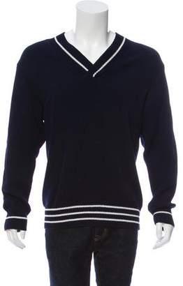 Bottega Veneta Long-Line V-Neck Sweater