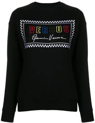 Versus embroidered logo jumper
