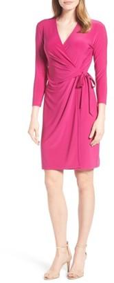 Women's Anne Klein Stretch Jersey Faux Wrap Dress $99 thestylecure.com