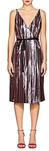 Robert Rodriguez Women's Sequin-Striped Wrap-Front Cami Dress - Purple