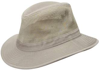 Dorfman Pacific Washed Twill & Mesh Safari Hat