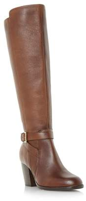 Roberto Vianni Tan 'Tarrant' Buckle Strap Knee High Boots