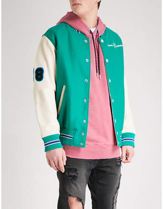 Diesel L-Harry wool and leather bomber jacket
