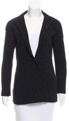 Halston H by Mock Neck Wool Jacket