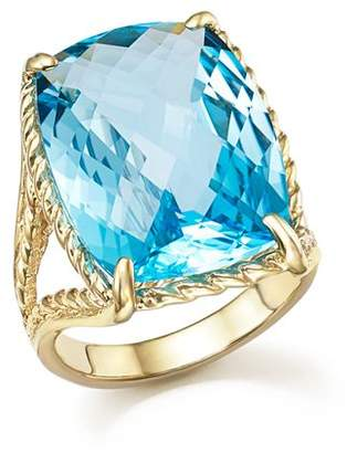Bloomingdale's Blue Topaz Statement Beaded Ring in 14K Yellow Gold - 100% Exclusive