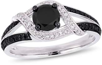 Black Diamond Concerto 10K White Gold, 1 CT. T.W. Diamond Split Shank Ring