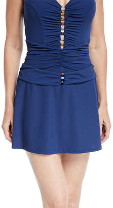 Murano Profile by Gottex Beaded Pull-On Swim Skirt