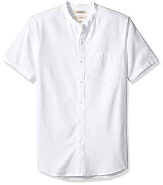 5c26fdcec3ca Goodthreads Men's Slim-fit Short-sleeve Band-collar Oxford Casual Shirt,X