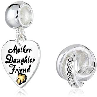 CHARMED BEADS Sterling Mother Daughter Friend Bead Charm Set