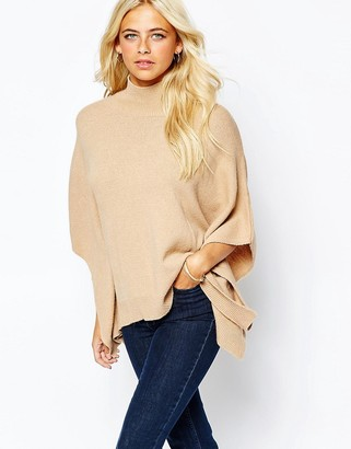 Oasis High Neck Poncho $62 thestylecure.com