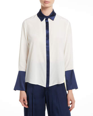 Alexis Julya Silk Button-Front Top
