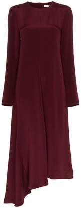 Tibi cutout bow embellished silk dress