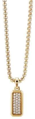 David Yurman Streamline Amulet in 18K Yellow Gold with Pavé Diamonds